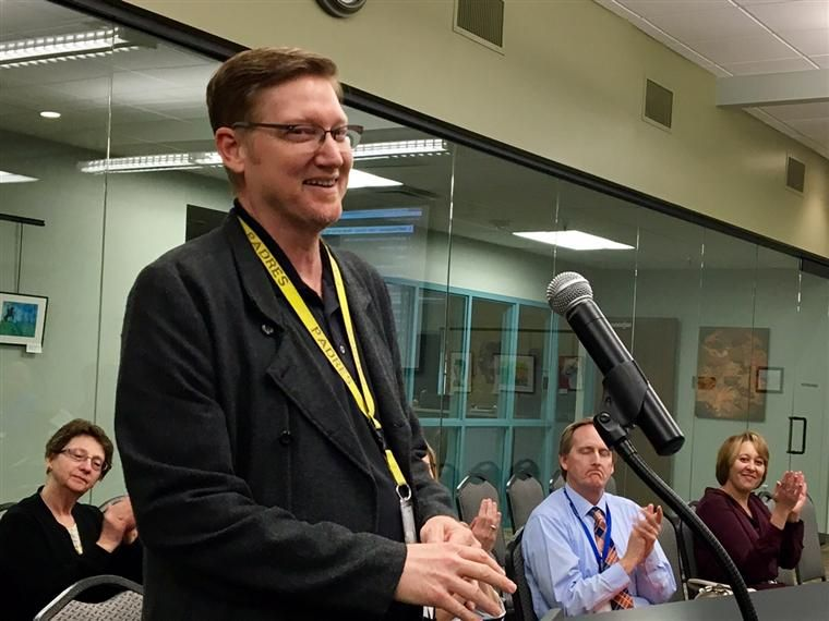 MDN Choir Director Darin Shryock honored at Feb 15 Governing Board Meeting